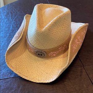 "⚜️ Bullhide ⚜️""Because of you"" Panama Cowboy Hat M"